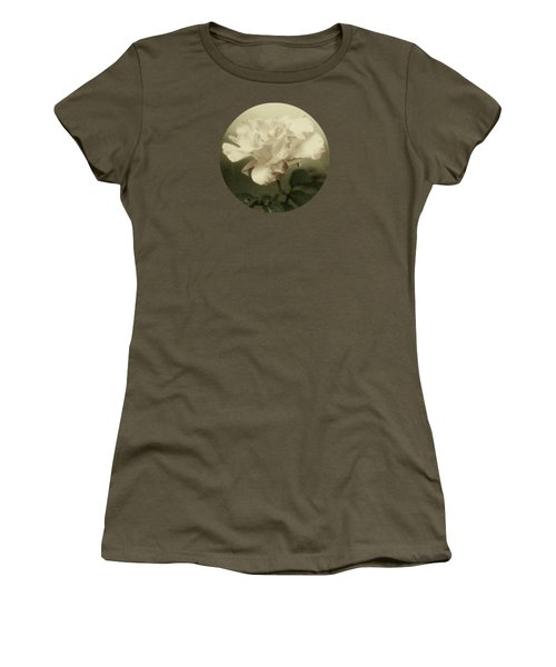 Faded Rose Women's T-Shirt (Junior Cut) by Mary Wolf