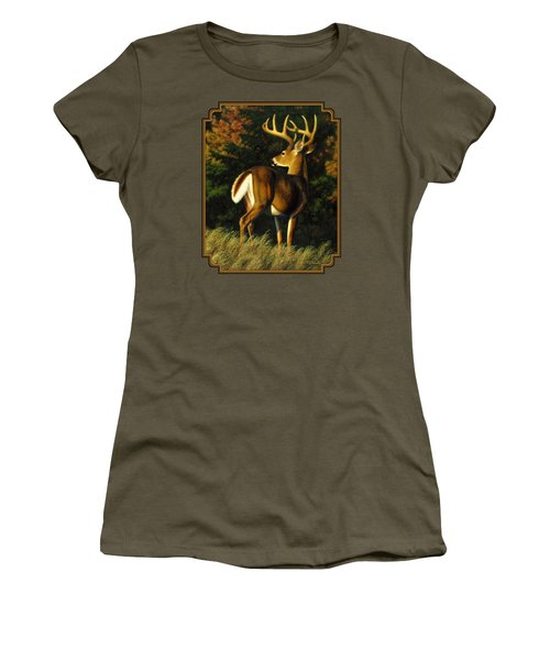 Whitetail Buck - Indecision Women's T-Shirt (Athletic Fit)