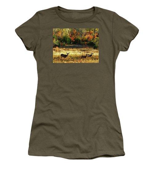 Deer Autumn Women's T-Shirt (Athletic Fit)