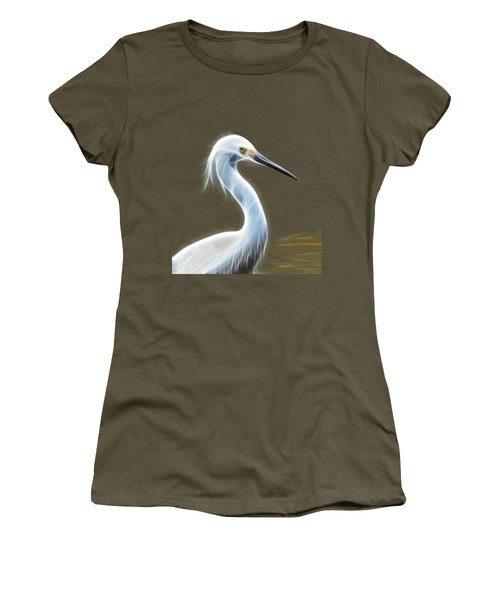 Snow Egret Women's T-Shirt (Junior Cut) by Shane Bechler