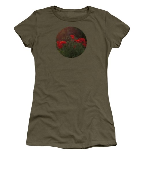 Sunset In The Poppy Garden Women's T-Shirt (Junior Cut) by Mary Wolf
