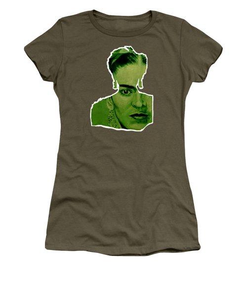 Frida Kahlo - Between Worlds - Green Women's T-Shirt