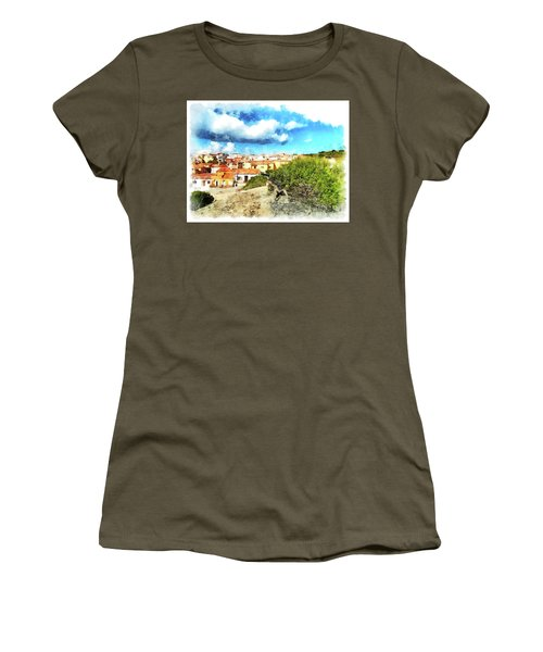 Arzachena Landscape With Clouds Women's T-Shirt (Athletic Fit)