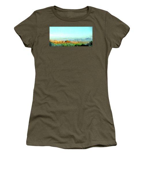 Arzachena Landscape With Mountains Women's T-Shirt (Athletic Fit)