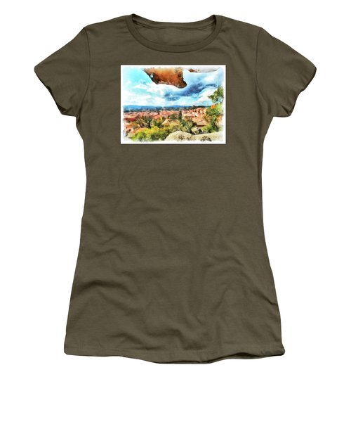 Arzachena Landscape With Rock Snd Clouds Women's T-Shirt (Athletic Fit)