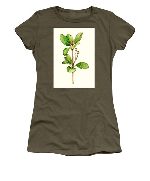 Women's T-Shirt (Junior Cut) featuring the painting As The Twig Is Bent The Tree Inclines. by Heidi Kriel