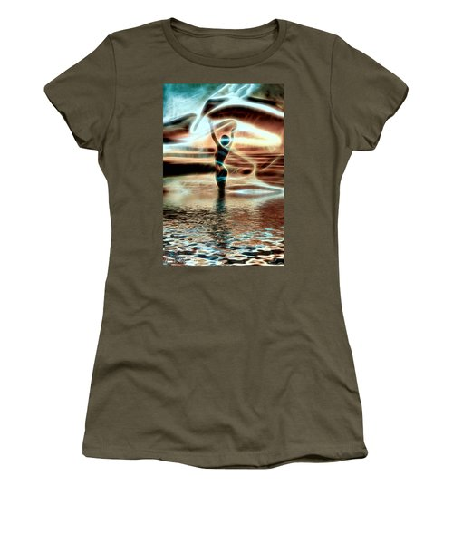 Women's T-Shirt featuring the digital art Ascension by Pennie McCracken