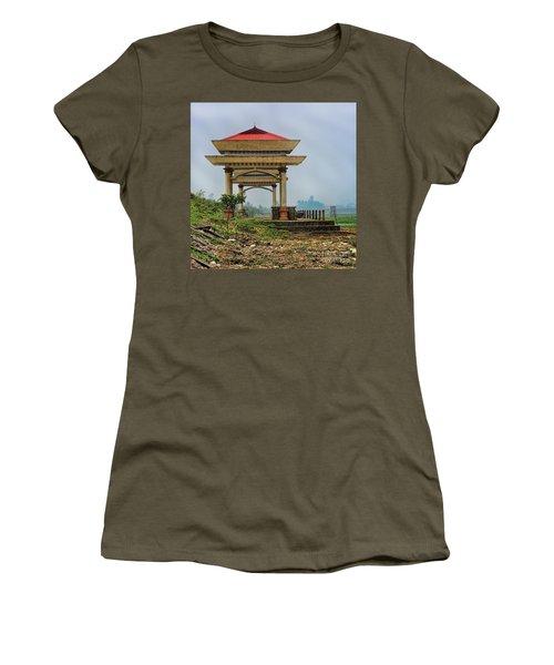 Asian Architecture I Women's T-Shirt (Junior Cut) by Chuck Kuhn