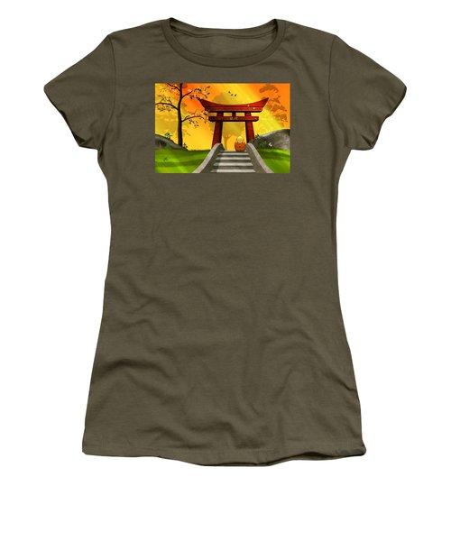 Asian Art Chinese Spring Women's T-Shirt (Junior Cut) by John Wills