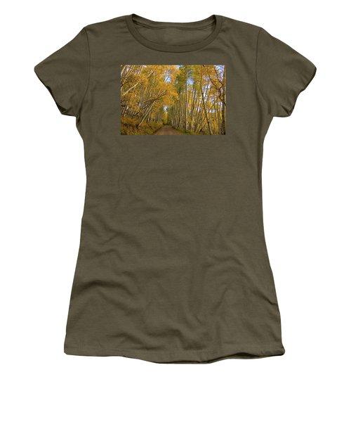 Women's T-Shirt (Junior Cut) featuring the photograph Aspen Alley by Steve Stuller