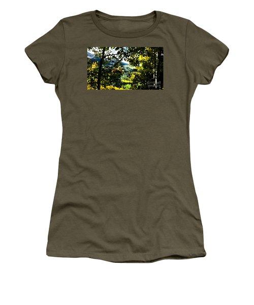 Aspen Effect Women's T-Shirt (Junior Cut) by Deborah Nakano