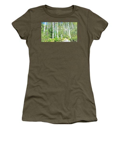 Aspen Splender Steamboat Springs Women's T-Shirt (Junior Cut) by Joseph Hendrix