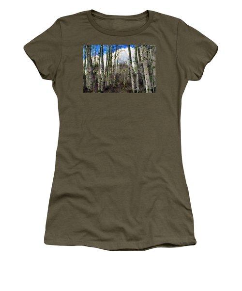 Aspen Standing Women's T-Shirt (Athletic Fit)