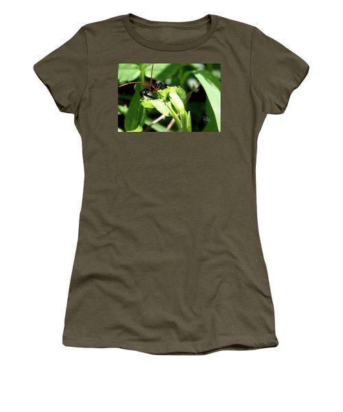 Women's T-Shirt (Junior Cut) featuring the photograph Assassin Bug by Meta Gatschenberger