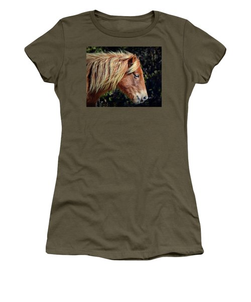 Assateague Horse Sarah's Sweet Tea Right Profile Women's T-Shirt