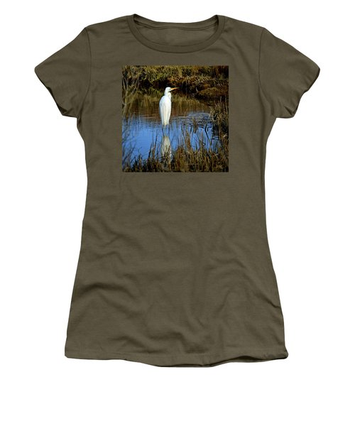 Assateague Island Great Egret Ardea Alba Women's T-Shirt