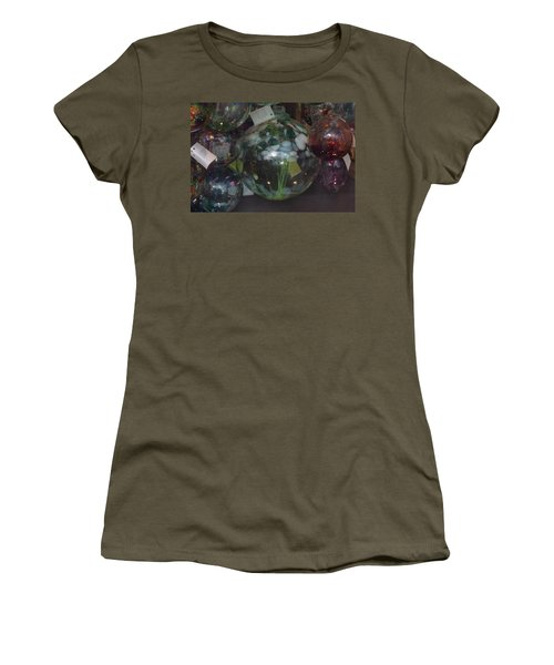 Assorted Witching Balls Women's T-Shirt (Junior Cut) by Suzanne Gaff