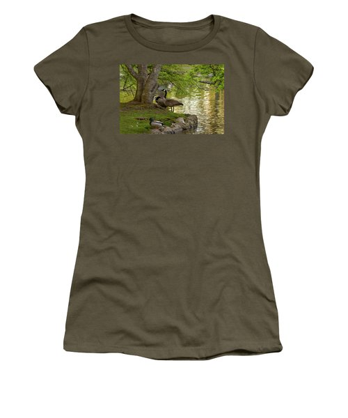 At Days End Women's T-Shirt (Athletic Fit)