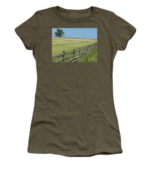 Women's T-Shirt featuring the photograph At Gettysburg by Donald C Morgan