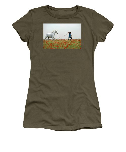 At The Poppies' Field... 2 Women's T-Shirt (Athletic Fit)