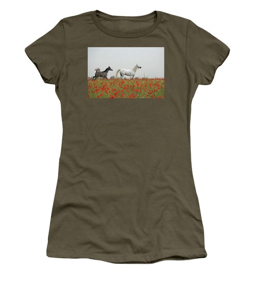 At The Poppies' Field... Women's T-Shirt