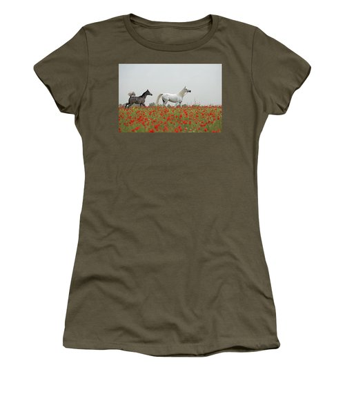 At The Poppies' Field... Women's T-Shirt (Athletic Fit)