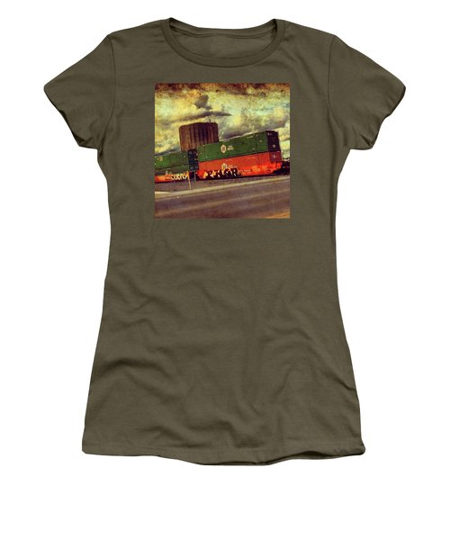 At The Train Crossing. Arizona  Women's T-Shirt (Athletic Fit)