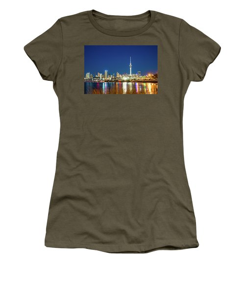 Auckland At Dusk Women's T-Shirt (Athletic Fit)