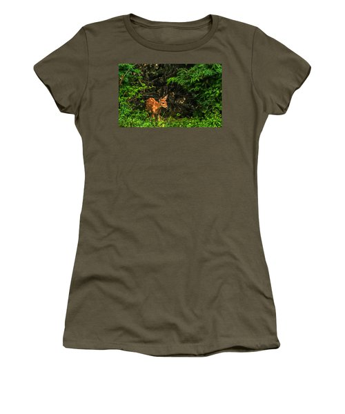 August Fawn Women's T-Shirt (Athletic Fit)
