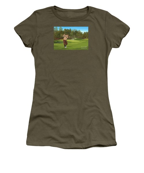 Augusta 11 And 12th Hole Bobbyjones Women's T-Shirt (Junior Cut) by Tim Gilliland