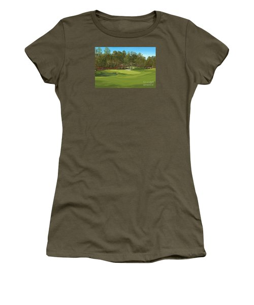 Augusta 11 And12th Hole Women's T-Shirt (Junior Cut) by Tim Gilliland