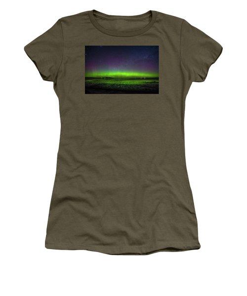 Women's T-Shirt (Junior Cut) featuring the photograph Aurora Australia by Odille Esmonde-Morgan