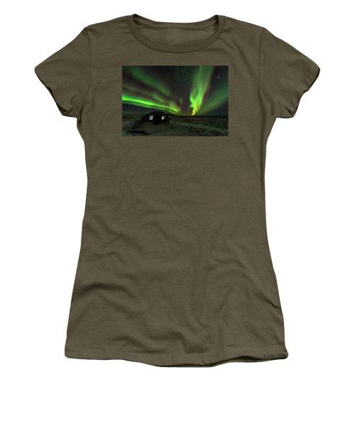Aurora Storm Women's T-Shirt (Junior Cut) by Allen Biedrzycki