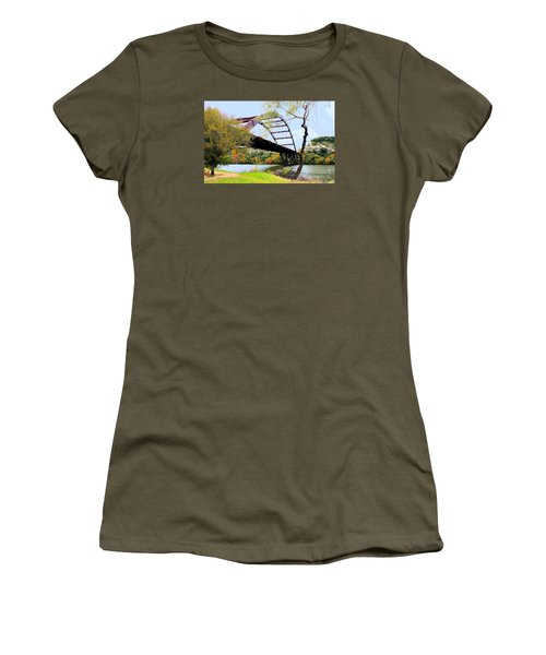 Austin Pennybacker Bridge In Autumn Women's T-Shirt (Athletic Fit)