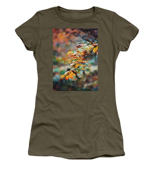 Women's T-Shirt (Junior Cut) featuring the photograph Autumn Aesthetics by Parker Cunningham