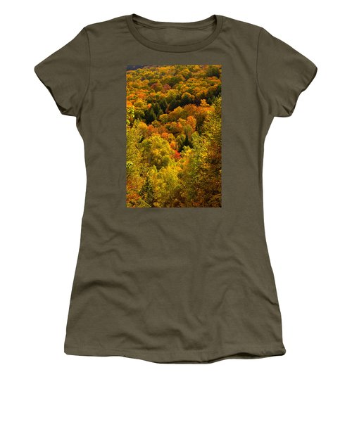 Autumn At Acadia Women's T-Shirt (Athletic Fit)