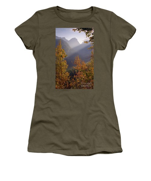 Autumn At Logan Pass Women's T-Shirt (Athletic Fit)