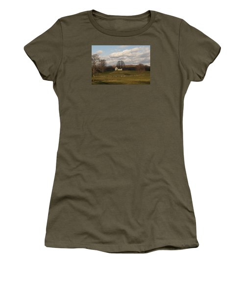 Autumn Barn On The Meadow Women's T-Shirt (Athletic Fit)
