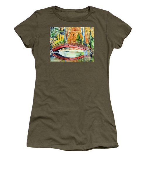 Women's T-Shirt (Junior Cut) featuring the painting Autumn Beauty by Tom Riggs