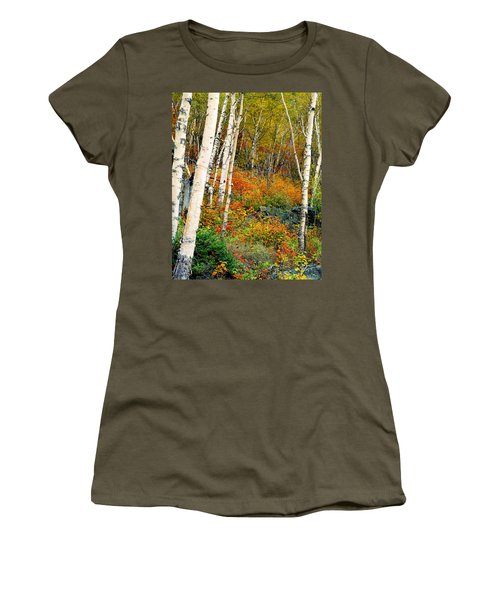 Autumn Birch Women's T-Shirt (Athletic Fit)