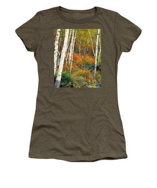 Autumn Birch Women's T-Shirt (Athletic Fit)