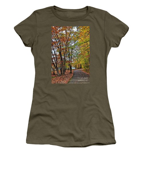Women's T-Shirt (Junior Cut) featuring the photograph Autumn Bliss by Gina Savage