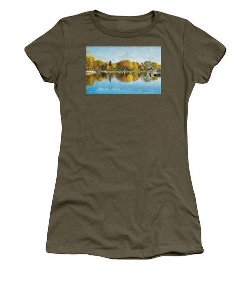 Autumn Blues Women's T-Shirt (Athletic Fit)
