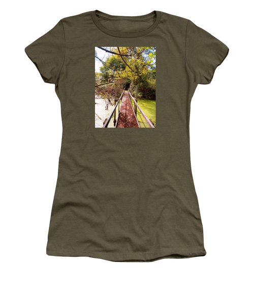 Autumn Bridge Women's T-Shirt (Athletic Fit)