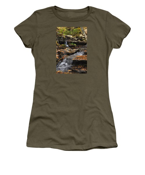 Autumn Brook Women's T-Shirt (Junior Cut) by Diane E Berry