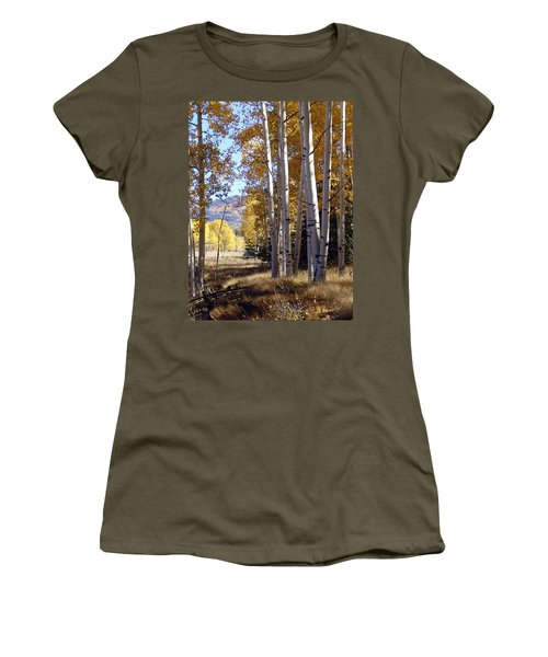 Autumn Chama New Mexico Women's T-Shirt (Junior Cut) by Kurt Van Wagner