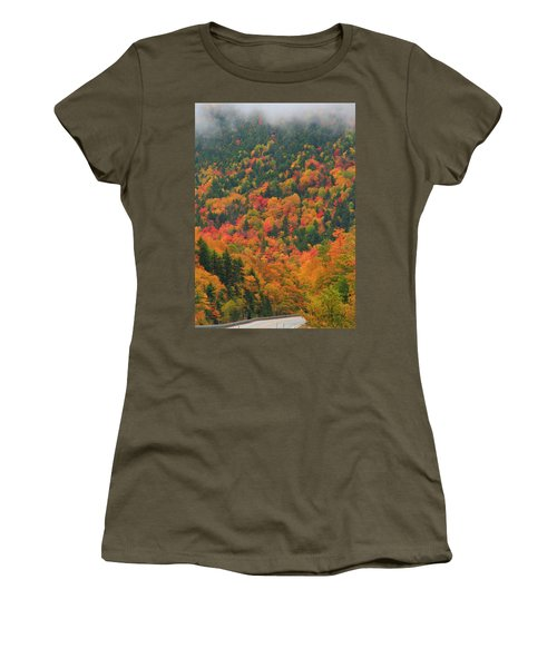 Autumn Clouds On Crawford Notch Road Women's T-Shirt