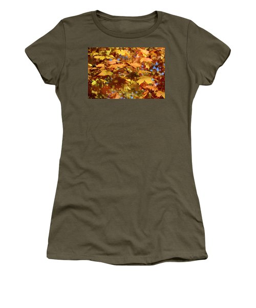 Women's T-Shirt featuring the photograph Autumn Colors 3  by Angie Tirado