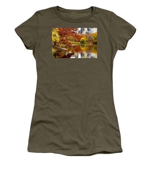Autumn Colors In Central Park New York City Women's T-Shirt (Junior Cut) by Sabine Jacobs