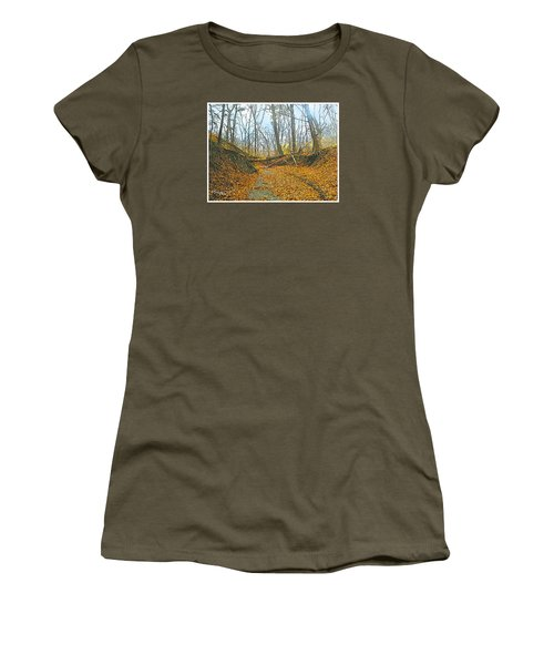 Autumn Creekbed Women's T-Shirt (Athletic Fit)